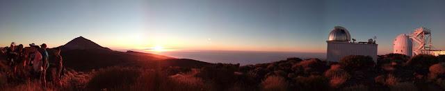 Puesta de sol: Observatorio del Teide