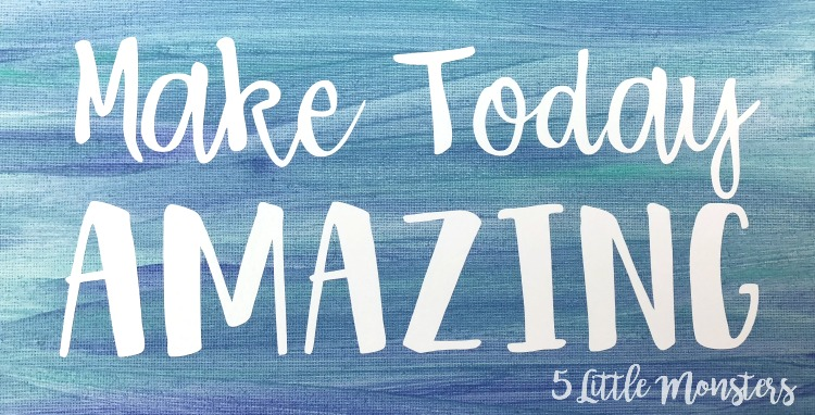 5 Little Monsters: Make Today Amazing Watercolor Canvas