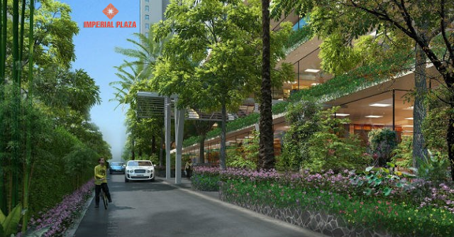 không gian xung quanh chung cư imperial plaza