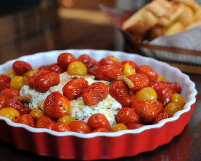 Roasted Tomatoes with Fresh Herbed Ricotta