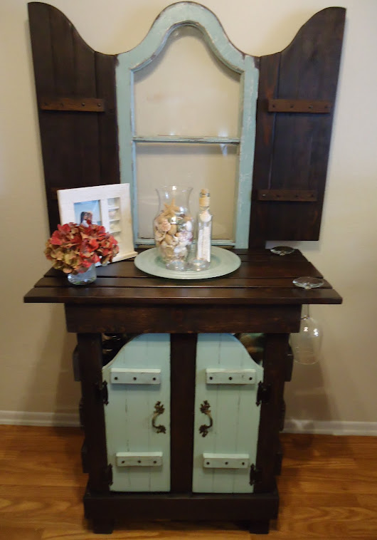 1924 French Window Table with Vintage Hardware - SOLD