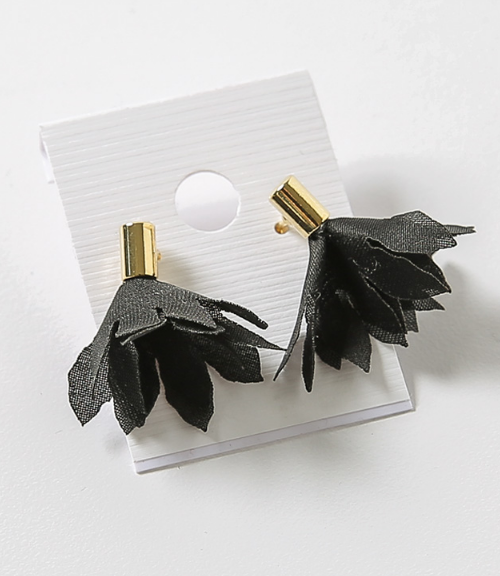 Cloth Flower Stud Earrings