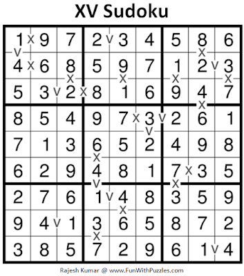 XV Sudoku (Fun With Sudoku #198) Puzzle Answer