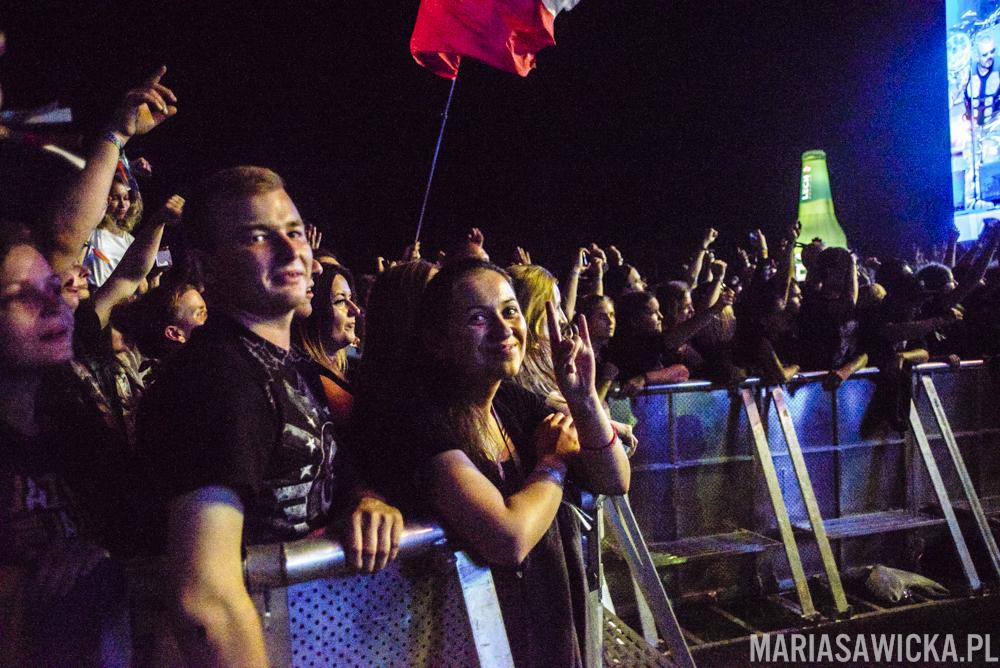 Sabaton crowd publika tłum publiczność Czad Festiwal