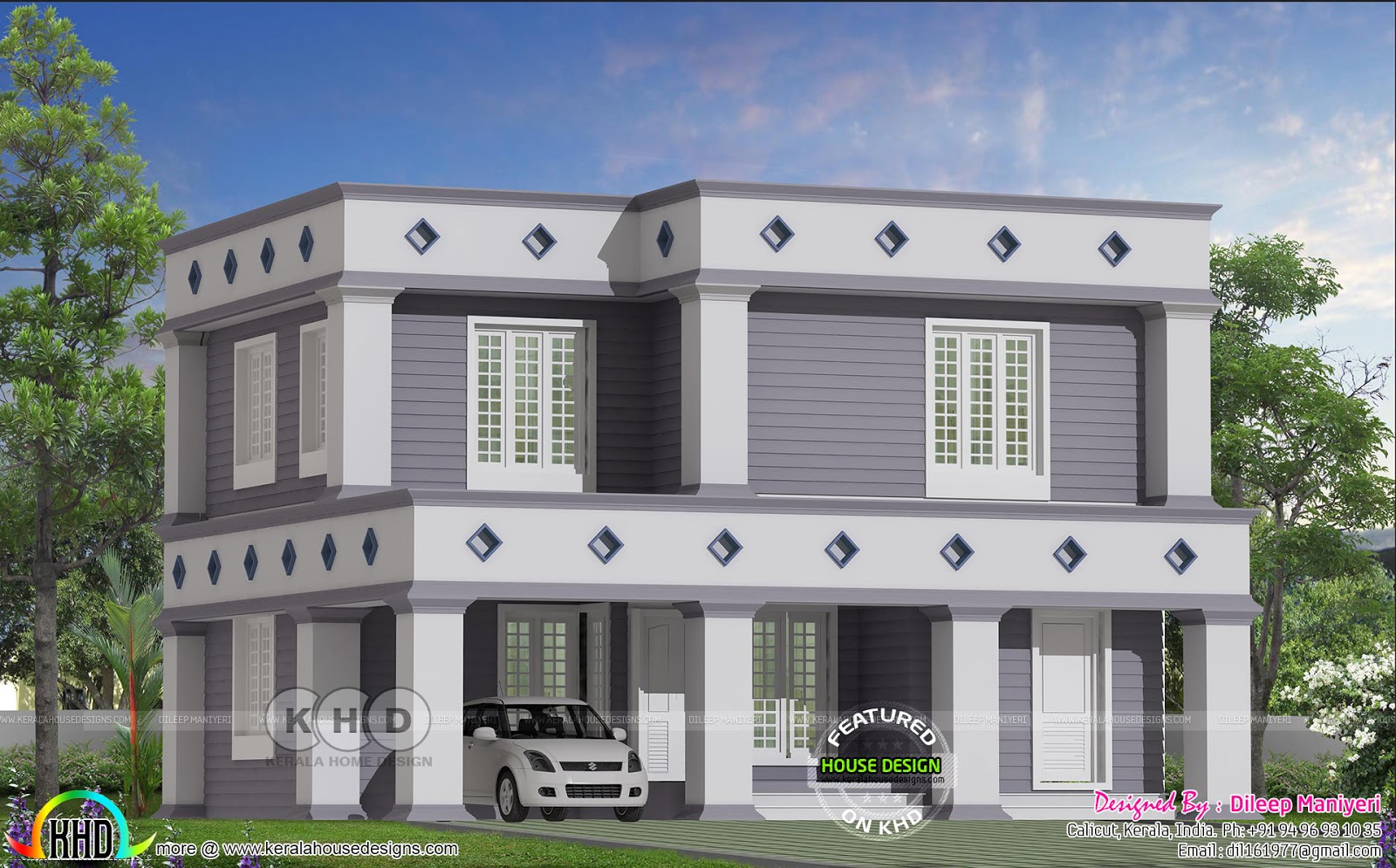 Arabic Colonial Mix Flat Roof Home Kerala Home Design And Floor Plans 8000 Houses
