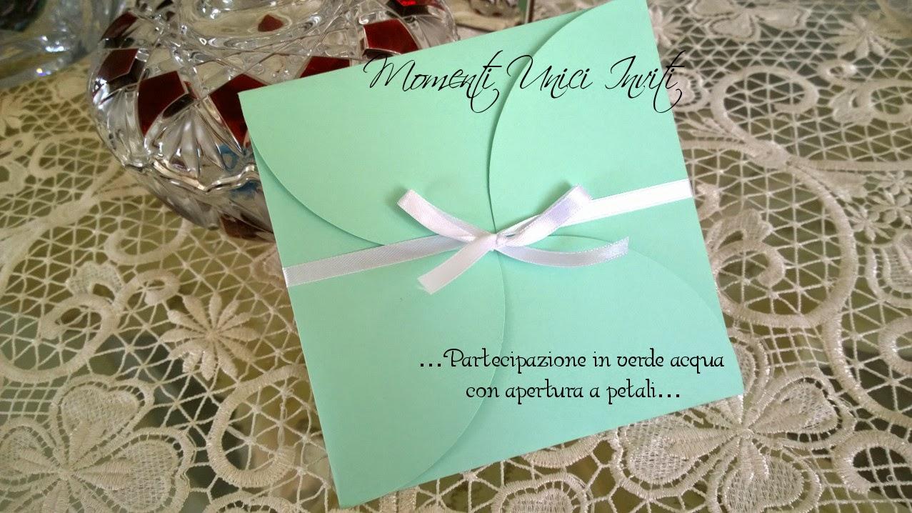 partecipazione%2Bmod.%2BPetali Partecipazione mod. PetaloColore Tiffany Colore Verde Acqua