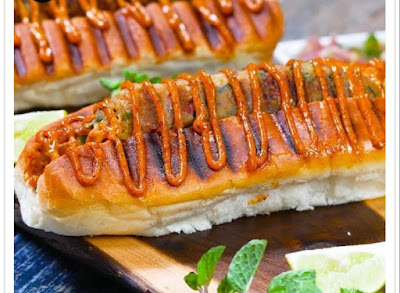 Veg Seekh Hot Dog