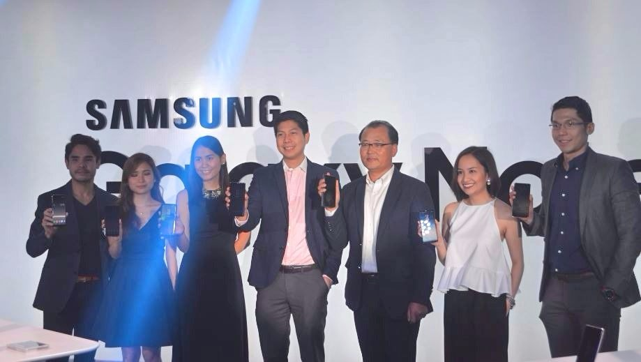 Samsung Philippines executives during the local launch of Galaxy Note8.