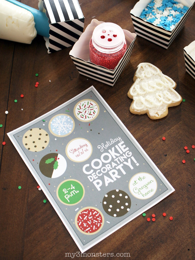 Want to host a cookie decorating party, but feel overwhelmed by how much work it might be?  Get the Top 5 Tips for hosting the world's easiest cookie party from my3monsters.com and @krusteaz