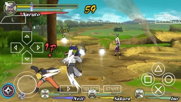 NARUTO SHIPPUDEN: ULTIMATE NINJA HEROES 3 PSP PPSSPP USA