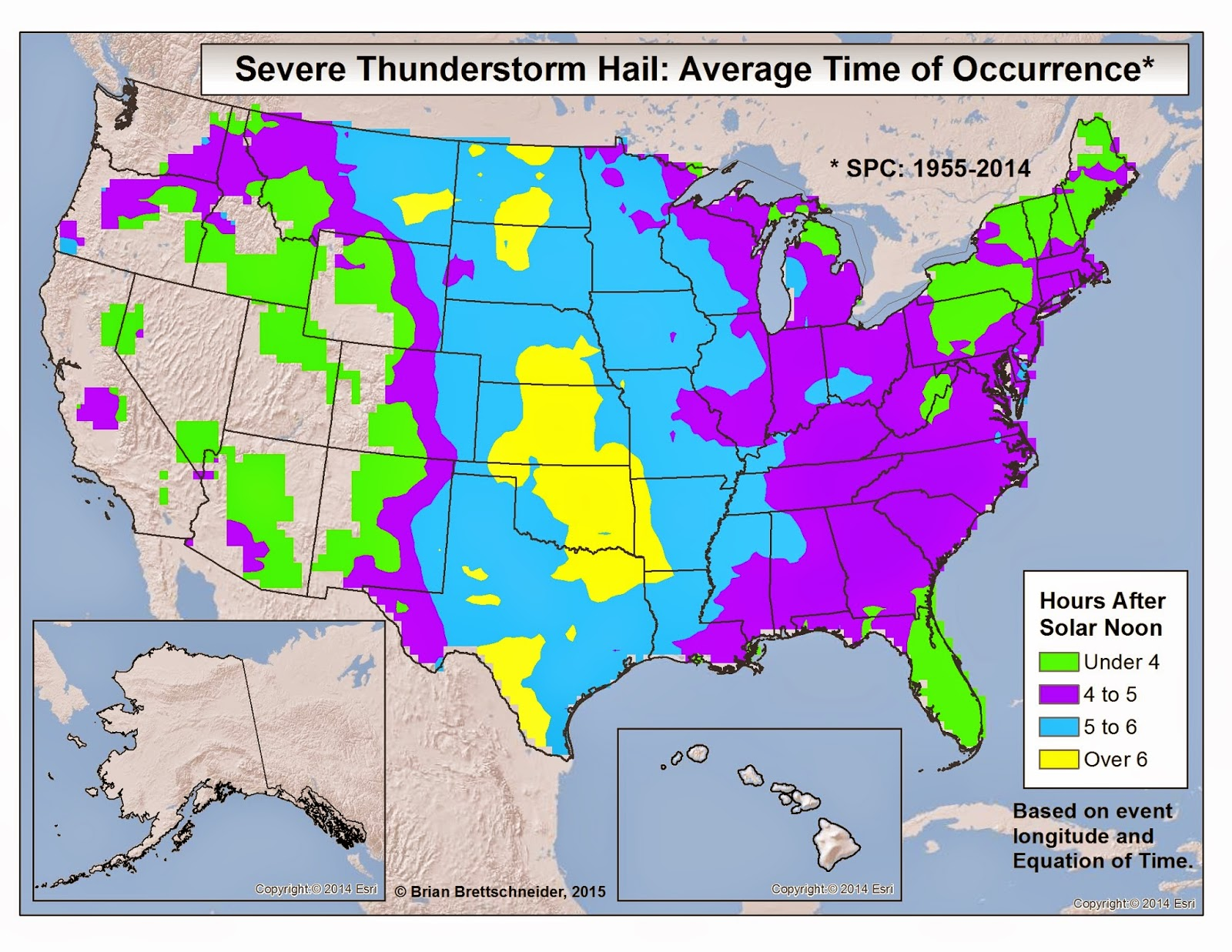 Brian B's Climate Blog: Severe Weather Time of Day