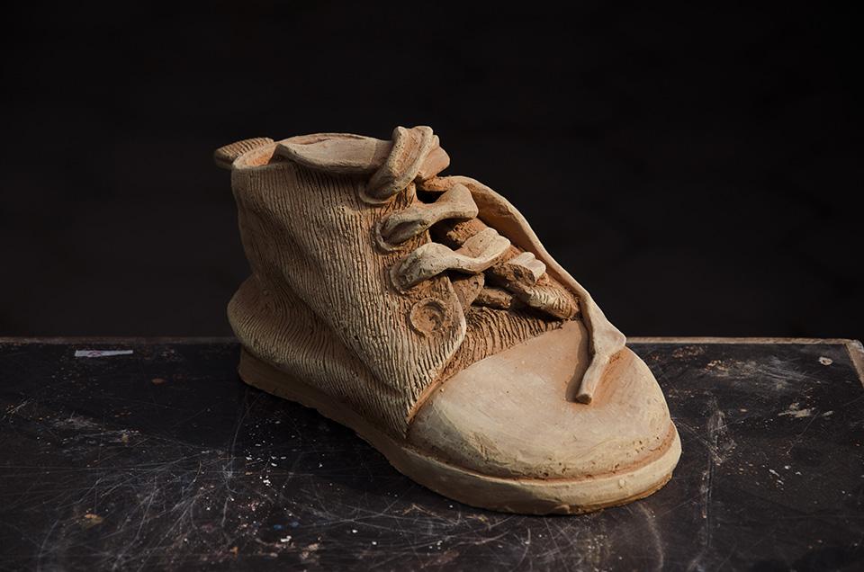 terra-cotta shoe
