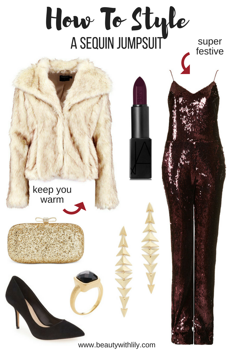 How To Style a Sequin Jumpsuit
