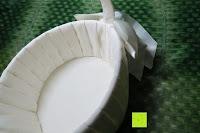 oben: Runde Elfenbein Satin bowknot Hochzeit Blumenmädchen Korb Blumenkinderkörbchen