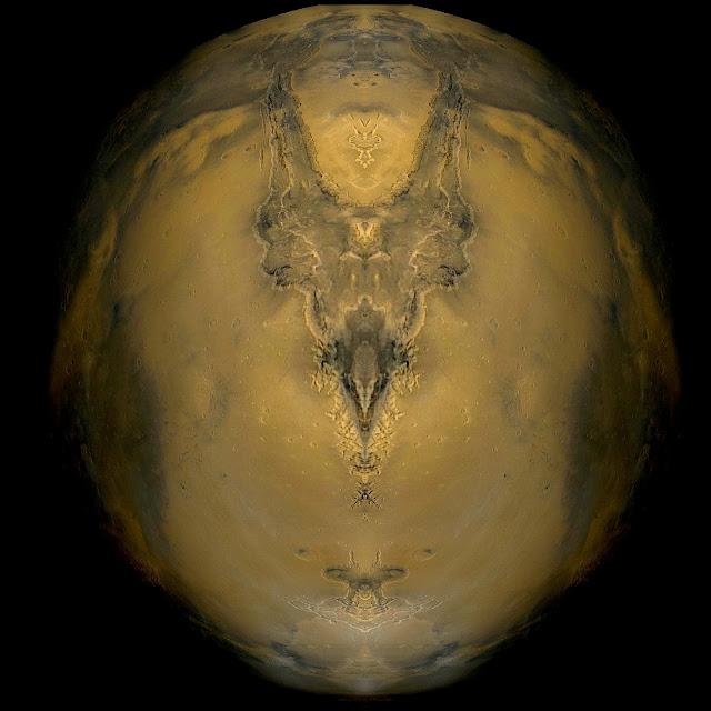 fotos abstracto astrales munimara, cráneo de marciano, marte, miedo, soledad, terror ,