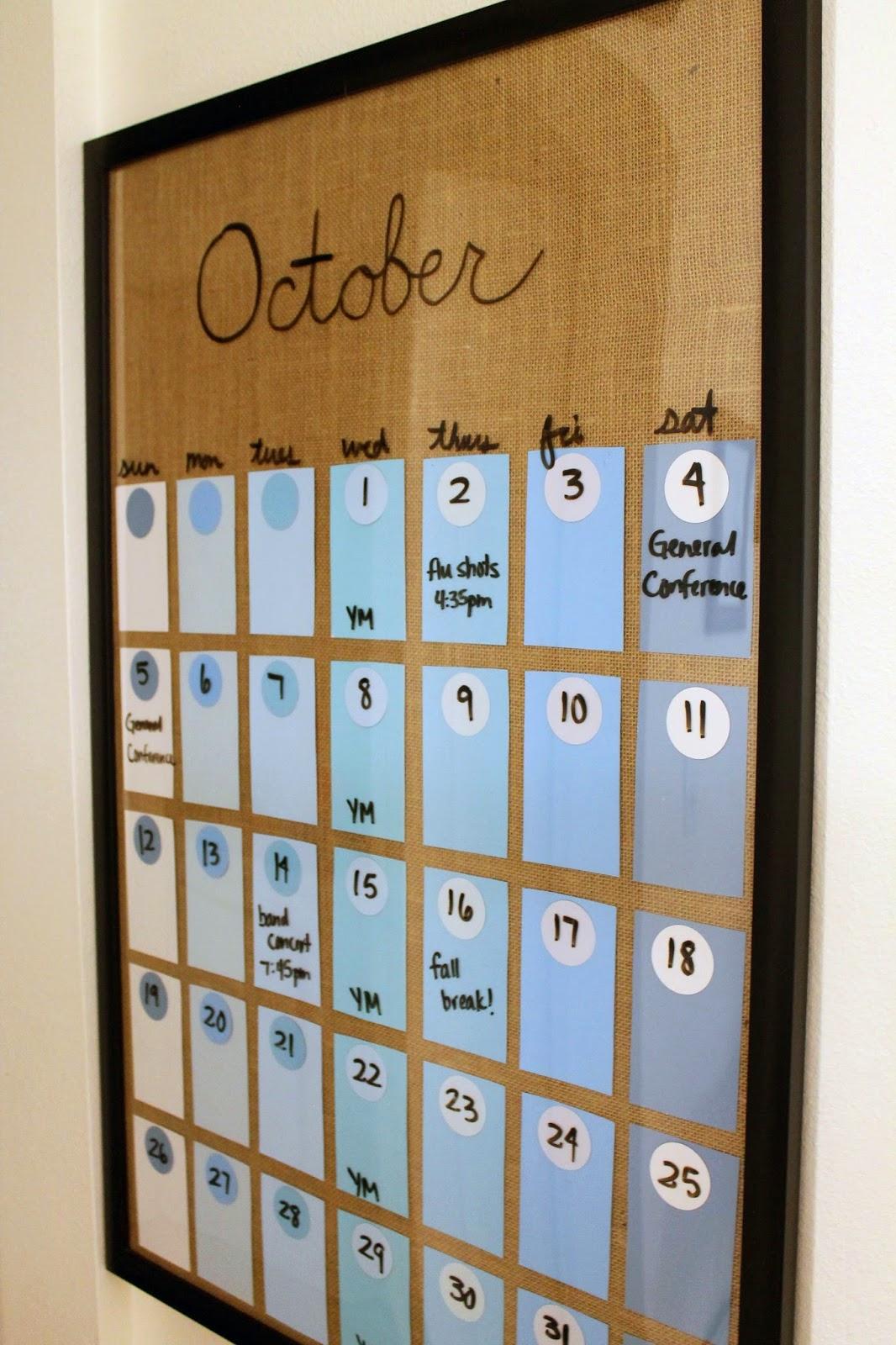 Silver Lining Diy Paint Chip Calendar