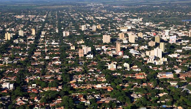 Foto aérea de Dourados MS