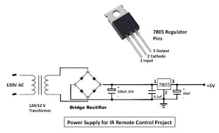 Circuit Diagram: Infrared Toggle switch for home appliances