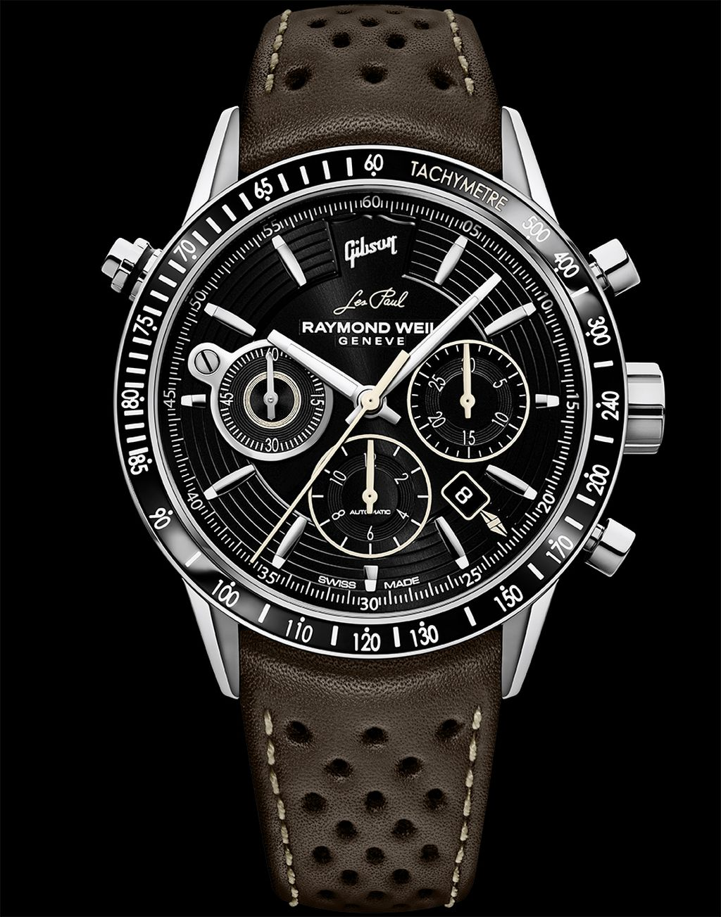 neue uhr raymond weil freelancer chronograph gibson les. Black Bedroom Furniture Sets. Home Design Ideas
