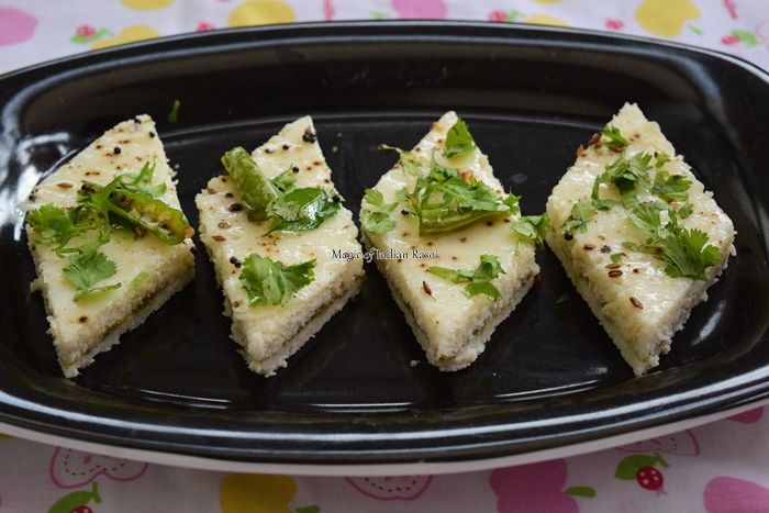 Gujarati-White-Sandwich-Dhokla-Magic-of-Indian-Rasoi-Priya R