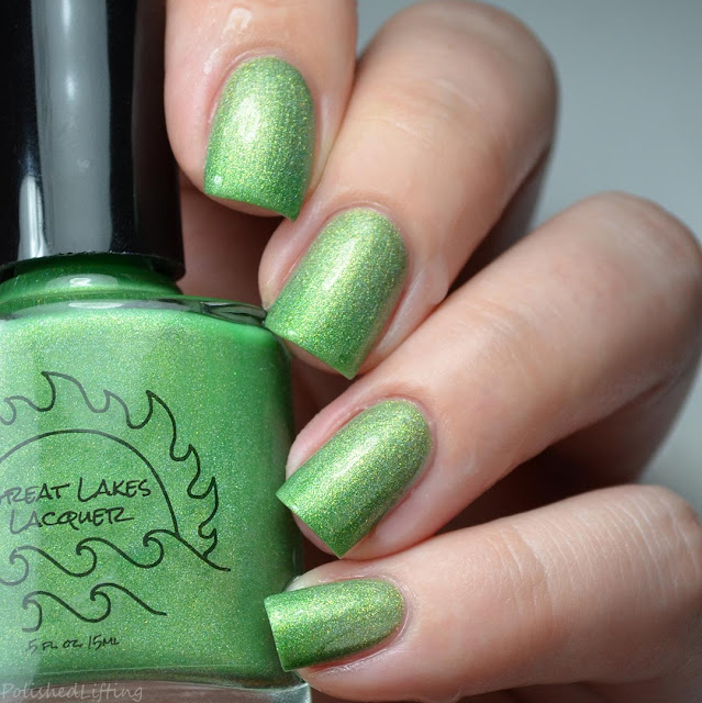 lime green to gold thermal nail polish