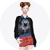 shirt+sweater_셔츠가 레이어드 된 스웨터_여성 의류