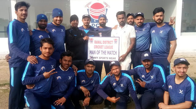 Daredevils X won the match by Rahul Dagar's century