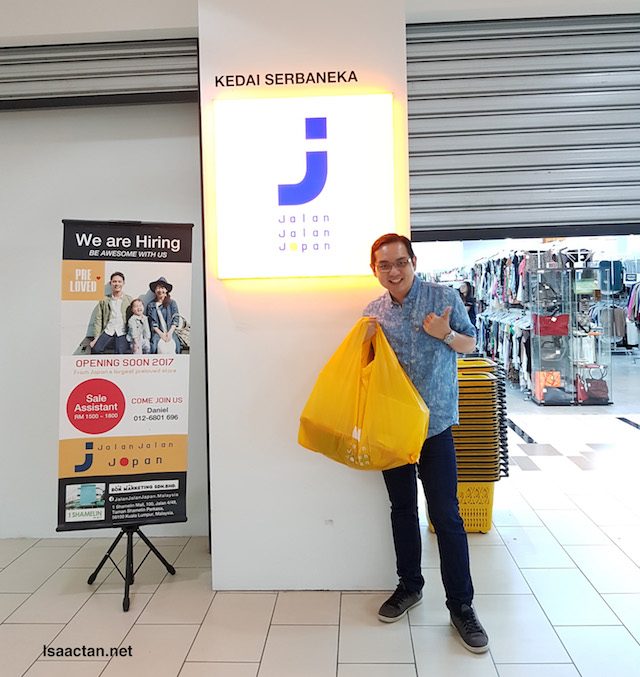 "With my ""spoils of war"", at Jalan Jalan Japan, 1 Shamelin Mall Cheras"
