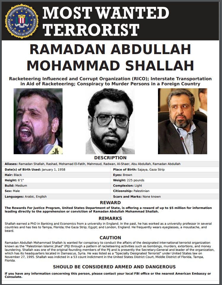 fbi most wanted terrorist list