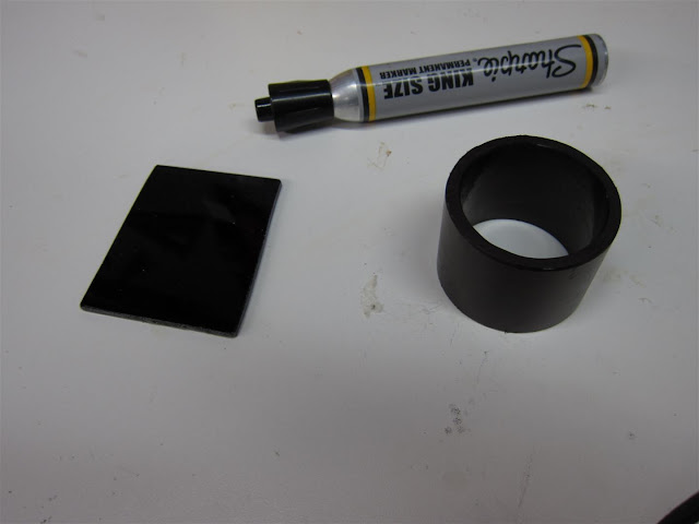 cut welding glass, darken case to prevent light, glare