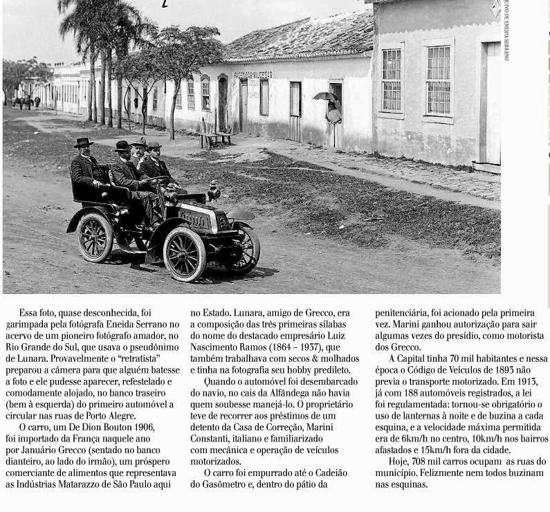 Almanaque cultural brasileiro primeiro carro em porto alegre - A casa do retratista ...