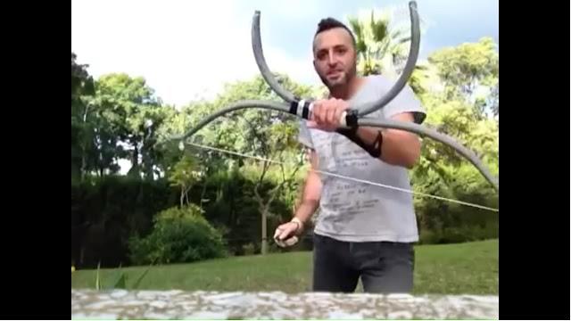 cara membuat panah dari paralon