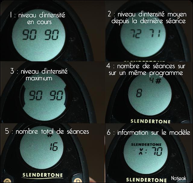 bouton information de la télécommande  de la ceinture Abs 7 de Slendertone