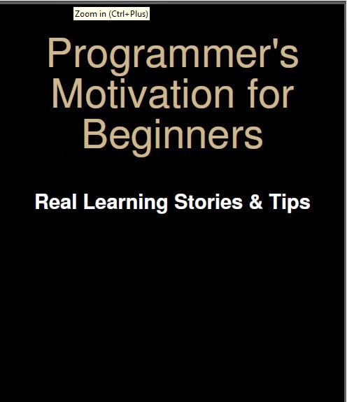 Free E-Book for Programmers