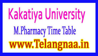 KU M.Pharmacy 2nd Sem Exam Time Table Download 2017
