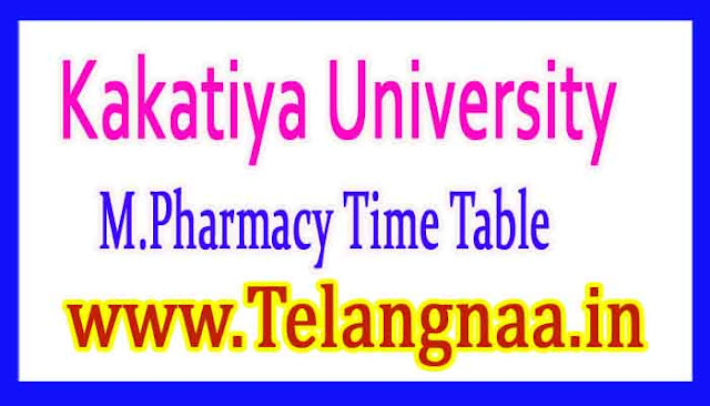 KU M.Pharmacy Exam Time Table Download