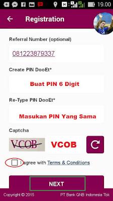 cara mengisi referral number di Aplikasi DooEt