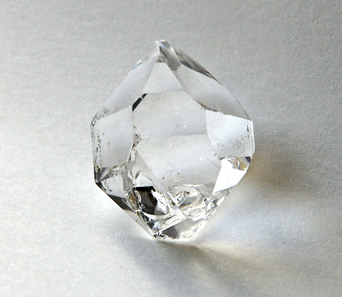 Faceted Herkimer Diamond Crystal Ring