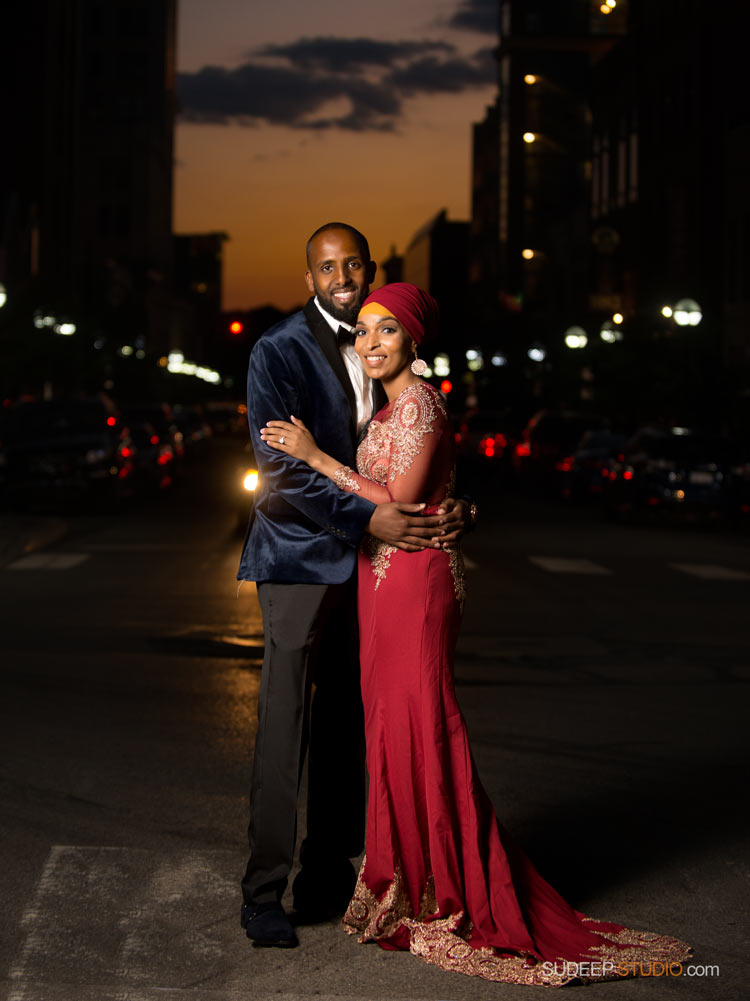 Engagement pictures Ann Arbor downtown at night - SudeepStudio.com