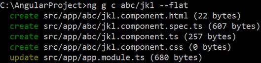 angular cli flat component