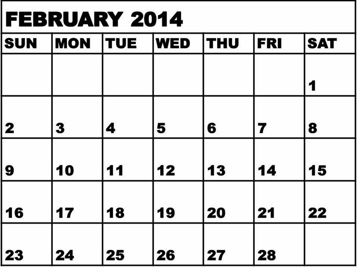 Free Is My Life Freeismylife February Calendar