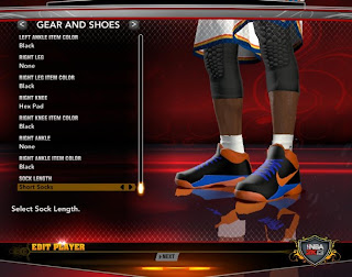 NBA 2K13 OKC Nike KD V (5) Shoes Blue Orange Black
