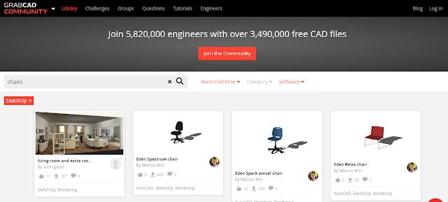5 Situs Download Objek 3D Gratis untuk Sketchup