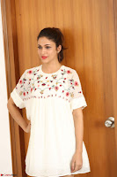 Lavanya Tripathi in Summer Style Spicy Short White Dress at her Interview  Exclusive 178.JPG
