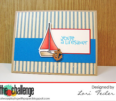 You're a Lifesaver card-designed by Lori Tecler/Inking Aloud-stamps and dies from Paper Smooches