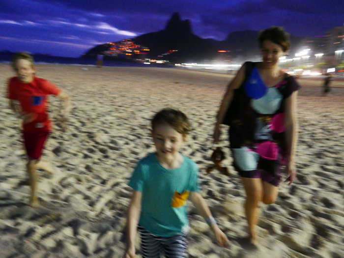Brazil with kids - evening ate Ipanema