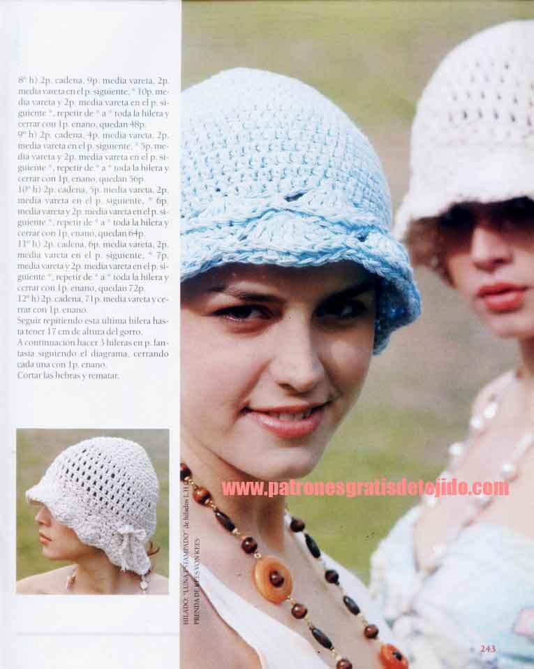 Gorro crochet paso a paso tutorial
