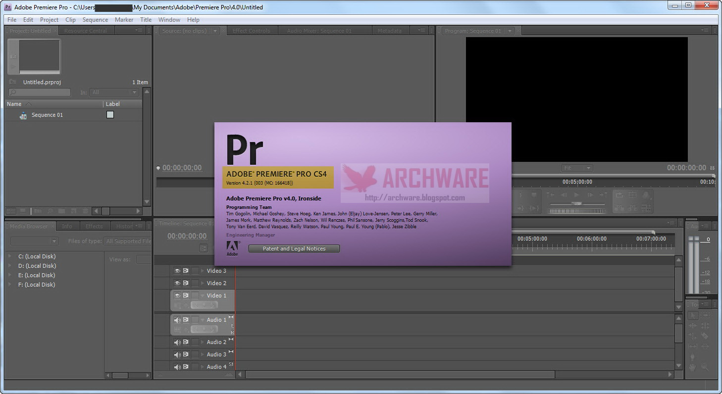 adobe premiere pro cs4 free download for windows xp