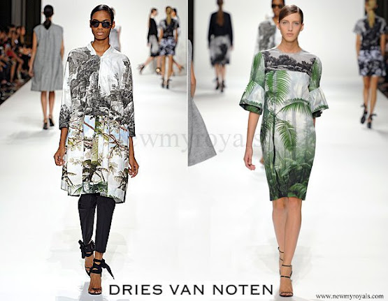 Queen Mathilde wore Dries Van Noten dress