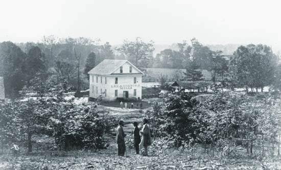 Sitio del segundo día de batalla a lo largo de los bancos de la cala de Chickamauga